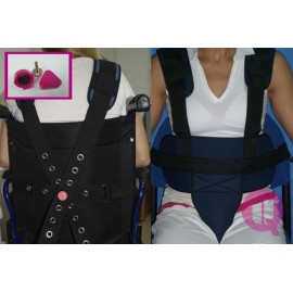 WHEELCHAIR / PADDED MAGNETIC  PERINEAL RESTRAINT BELT