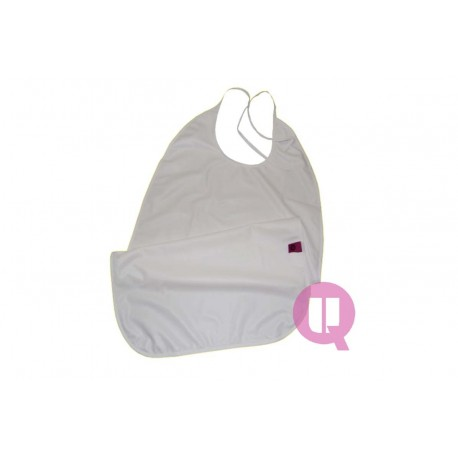 UBIO TERRY BIB WITH LOOP CLOSURE & POCKET 75 x 45