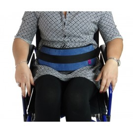 WHEELCHAIR / PADDED MAGNETIC ABDOMINAL RESTRAINT BELT