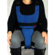 PERINEAL VEST FOR WHEELCHAIR WITH IRONCLIP LOCKING SYSTEM