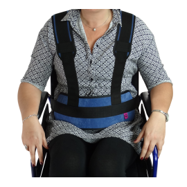 PADDED ABDOMINAL RESTRAINT BELT WITH STRAPS