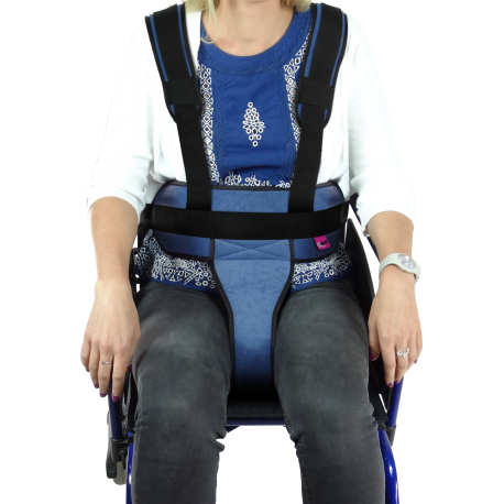 WHEELCHAIR PADDED IRONCLIP PERINEAL RESTRAINT BELT