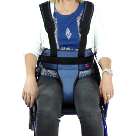 WHEELCHAIR / PADDED IRONCLIP PERINEAL RESTRAINT BELT