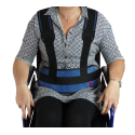 WHEELCHAIR / PADDED IRONCLIP ABDOMINAL RESTRAINT BELT