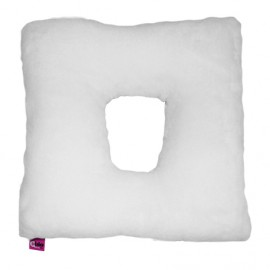 SANITIZED SQUARE CUSHION WITH HOLE - WHITE