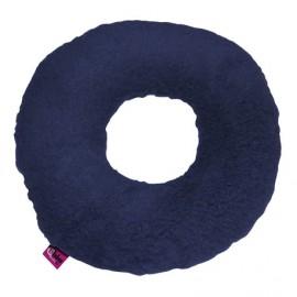 SANITIZED ROUND CUSHION WITH HOLE - NAVY BLUE