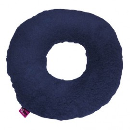 SANITIZED ROUND CUSHION WITH HOLE - NAVY BLUE