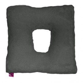 SANITIZED SQUARE CUSHION WITH HOLE - GREY