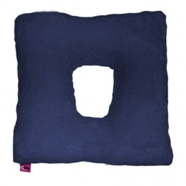 SANITIZED SQUARE CUSHION WITH HOLE - NAVY BLUE