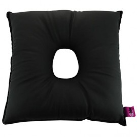 SANILUXE SQUARE CUSHION W/HOLE GRAPHITE