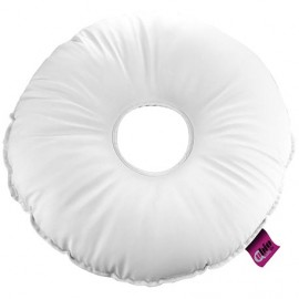 SANILUXE ROUND CUSHION W/ HOLE WHITE