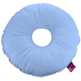SANILUXE ROUND PILLOW W/HOLE LIGHT BLUE