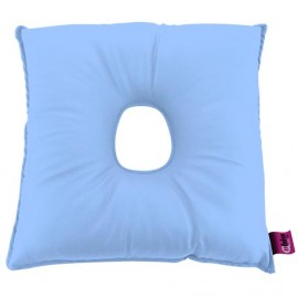 SANILUXE SQUARE CUSHION W/HOLE LIGHT BLUE