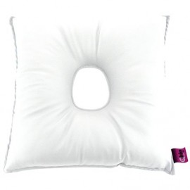 SANILUXE SQUARE CUSHION W/HOLE- WHITE
