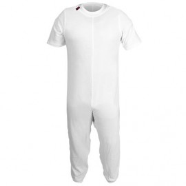 SANITIZED INCONTINENCE PYJAMA LONG PANTS/SHORT SLEEVES WHITE